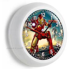 IRON MAN SUPERHERO TONT STARK WALL CLOCK BOYS BEDROOM HOME PLAY GAME ROOM DECOR