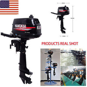6hp Portable Outboard Motor Fishing Boat Engine W 2