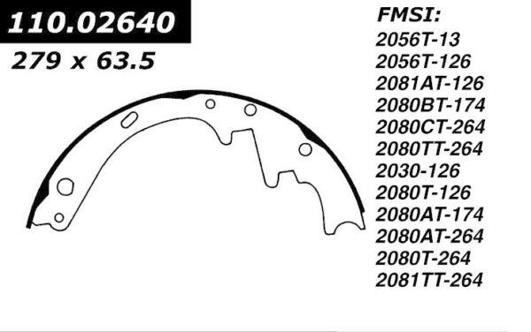 Centric 110.02640 Drum Brake Shoe