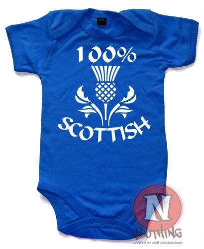 100/% Schottisch Süß Strampler Baby Anzug Tolles Geschenk Weste Schottland Distel