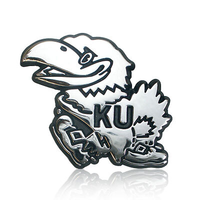University of Kansas Chrome Metal Premium Car Emblem