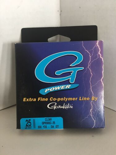 Gamakatsu G-POWER Extra Fine Co-Polymer FISHING LINE 25LB Test