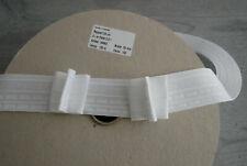5m Gardinenband Faltenband 1:2,5 3Falten 50mm breit weiß gesam ca 100m