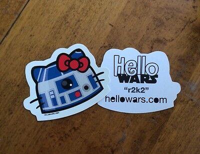 Star Wars R2D2 Sticker Artoo Hello Kitty Kawaii Droid Hellowars Car Decal