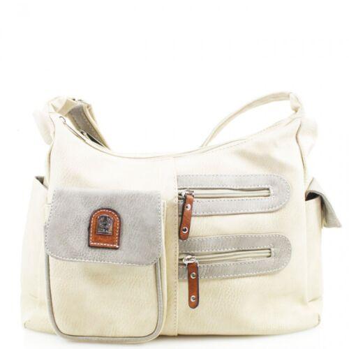 Women/'s Multi Pocket Synthetic Zipped Crossbody Handbag Messenger Shoulder Bag