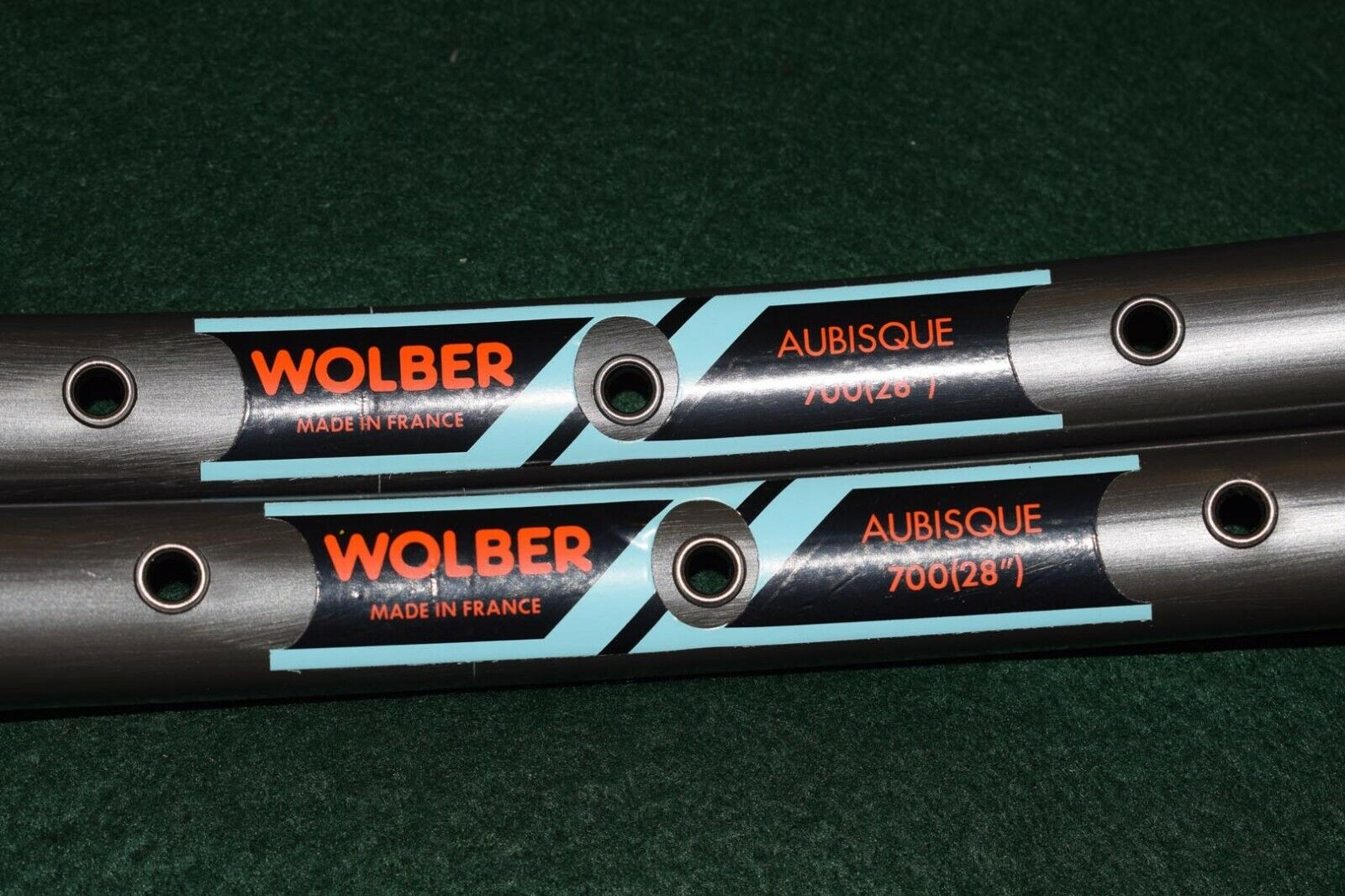 WOLBER Aubisque Tubular Rim  Set 700c 28'' 36 hole dark brown Made in France NOS  large selection
