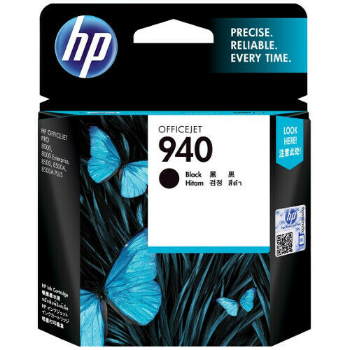 3 HP Genuine 940 Black Ink Cartridge c4902aa For Officejet Pro 8000 8500