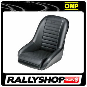 OMP-SILVERSTONE-vintage-classic-Seat-Black-Synthetic-Leather