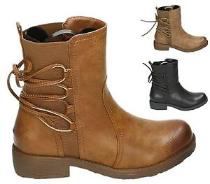 LADIES-WOMENS-WORKER-COMBAT-BIKER-MILITARY-FLAT-LACE-UP-ANKLE-BOOTS-SHOES-SIZE