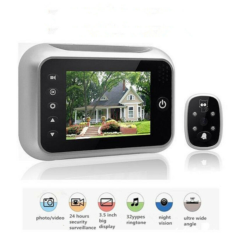 3.5  HD LCD Digital Doorbell Peephole Viewer Camera Door Security Video Monitor