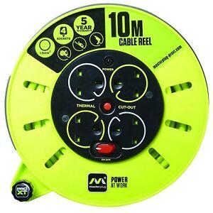 Masterplug PRO XT 10 M 4 GRUPPO CASSETTA Medio Mulinello Cavo con interruttore e Led  </span>