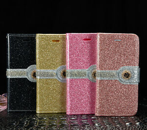 Luxury-PU-Leather-Bling-Magnetic-Flip-Stand-Wallet-Case-For-Samsung-amp-iPhone