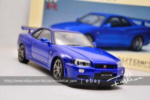 Image Is Loading AutoArt 1 18 Nissan Skyline GTR R34 V
