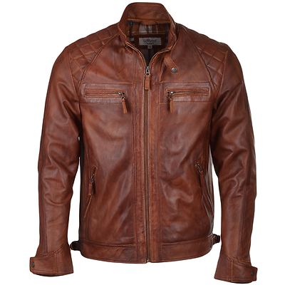 Black Mens Ashwood Soft Leather Slim Fit Biker Style Jacket 2101