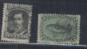 CANADA-NEW-FOUNDLAND-SC-24-and-27-USED-FVF