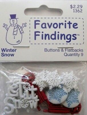 Favorite Findings Buttons WINTER SNOW