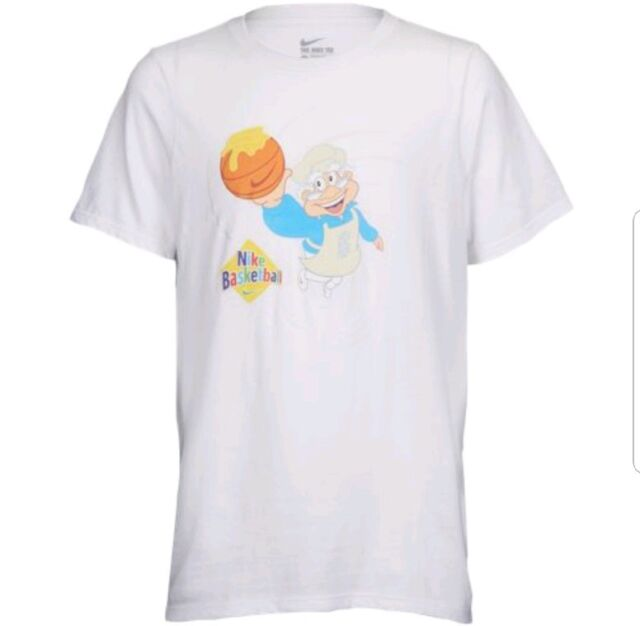 sports shoes 584fe d33f6 Nike Kids Kyrie Irving Cinnamon Toast Crunch T Shirt Size XS Ci0365 100  White