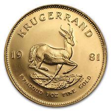 1981 South Africa 1 oz Gold Krugerrand - SKU #88631