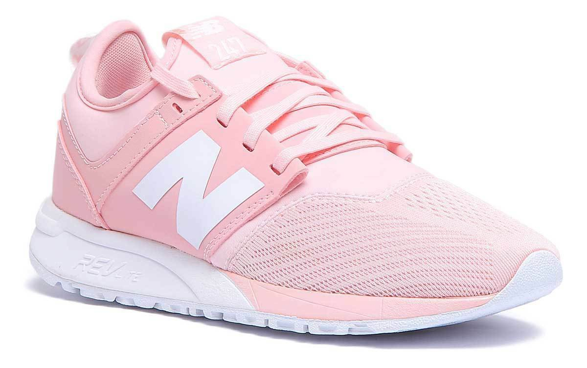 New Balance 247 WRL247EM femmes Light rose Suede Trainers UK Taille 3 - 8
