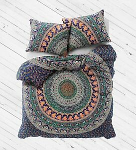 Mandala-Duvet-Cover-Elephant-Decor-Doona-Cover-Throw-Comforter-Set-Pillow-Covers