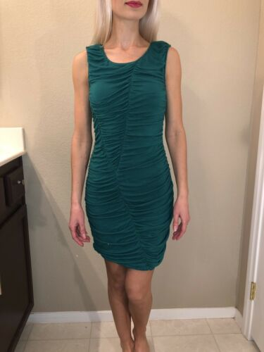 Teal Scrunch Dreas Small Rouhed Women's Dressy