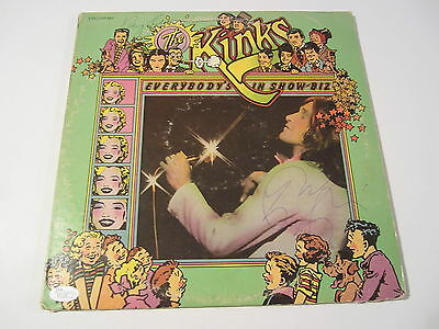 """Entertainment Memorabilia Biz """" By Ray And Dave Davies Jsa Coa Loa Kinks Signed Lp """" Everybody's In Show Rock & Pop"""