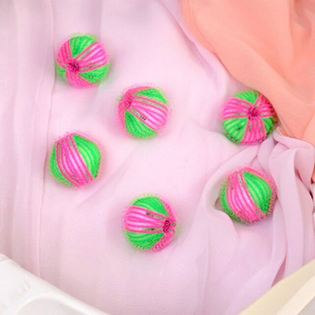 6X/pack Magic Hair Removal Laundry Ball Clothes Washing Machine Cleaning Jz