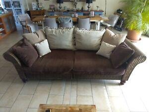 Wohnzimmer möbel Sofa Couch Rattan 280cm mit Sichtrücken ...