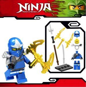 Ninjago-blauer-Ninja-Jay-ZX-Spinjitzu-Custom-Lego-Mini-Figur-Lloyd-Kai-Armee-Spielzeug