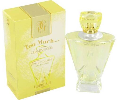 GUERLAIN CHAMPSELYSEES TOO MUCH 75ml EDT Spray Womens Perfume Rare Discontinued