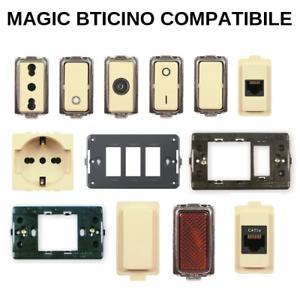 Magic-bticino-compatibile-Placche-Interruttore-presa-deviatore-rj11-suoneria