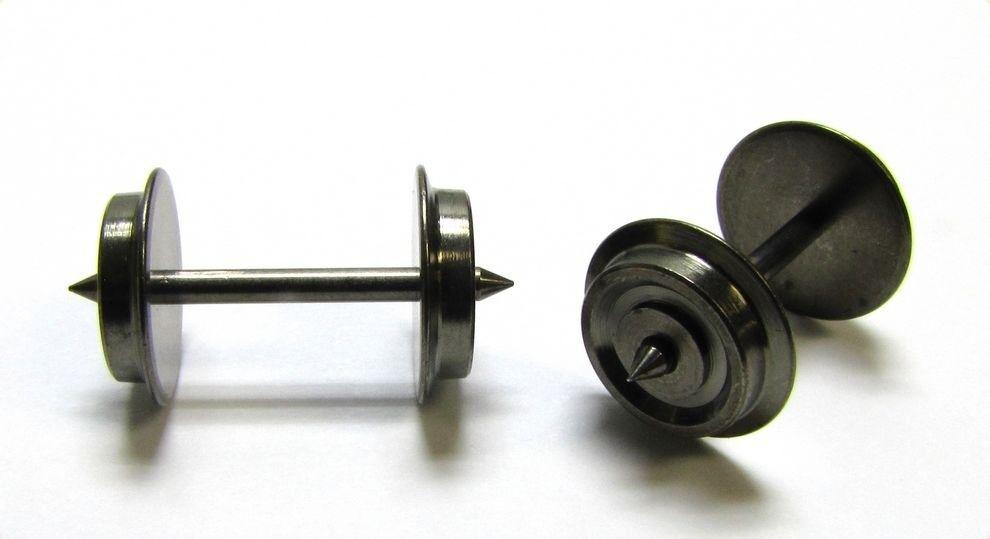 48 x precisión-juego de ruedas Fleischmann lkdm 11,0 mm eje 24,0 mm h0 ac 2-Trailer