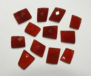 Details about  /Lot Natural Red Onyx 13X18 mm Oval Rose Cut  Loose Gemstone