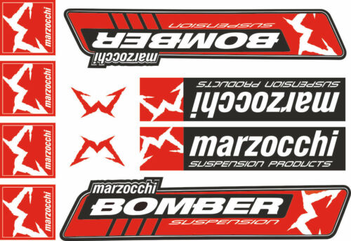 Suspension Graphic Decal Kit Sticker Adhesive Set Red #1 Marzocchi Bomber Fork