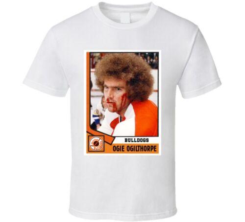 Ogie Ogilthorpe carte de hockey de lancer frappé Retro Hockey Film Fan T Shirt