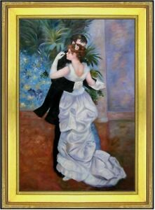 Framed-Renoir-City-Dance-Repro-Quality-Hand-Painted-Oil-Painting-24x36in