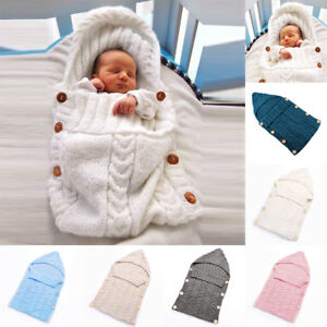 newest 703d0 5e970 Details about Wrap Cute Pod Bag Baby Infant Warm Cotton Knit Blanket  Newborn Sleeping Good Kit