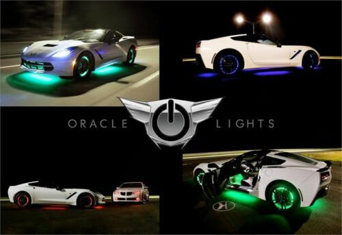 Set of 4 for FORD F150 F250 WHITE LED Wheel Lights Rim Lights Rings by ORACLE