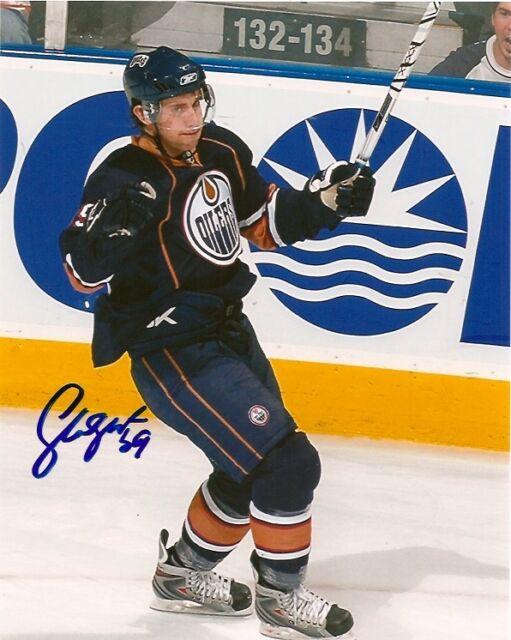 Edmonton Oilers Sam Gagner Signed Autographed 8x10 Photo COA TWO
