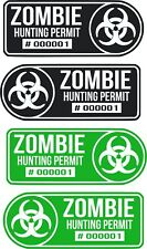 Zombie Hunting Permit Car Window Decalpick Your Size And Color