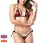Sexy-Micro-Bikini-Shiny-Pattern-Women-Brazilian-G-StringThong-Swimwear-Swimsuit miniatura 11