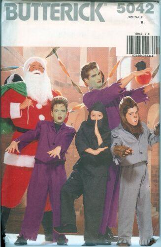 Butterick 5042 Boys Mens Santa Ninja Werewolf Zombie Costume Pattern UNCUT FF