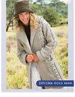 womens ladies jacket coat aran knitting pattern 141