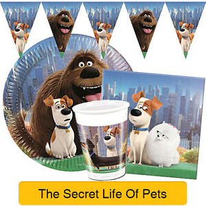 the secret life of pets birthday party range tableware. Black Bedroom Furniture Sets. Home Design Ideas