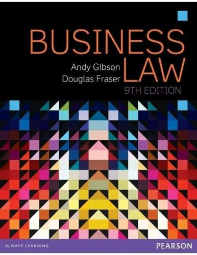 1 of 1 - Business Law 9E by Andy Gibson, Douglas Fraser (Paperback, 2015)