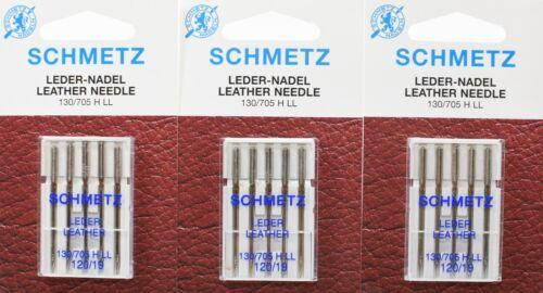 130//705 HLL NM 120 Flachkolben 15 Schmetz Nähmaschinen Ledernadeln Sys