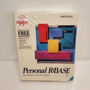 Vintage Microrim Personal R:BASE 1.0 Computer Database 1990 NIP HTF