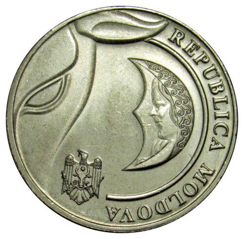 Moldova coin 1 Leu 2018 UNC From bank roll