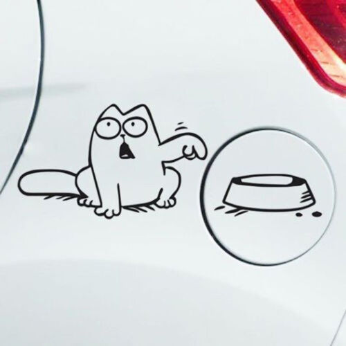 """/""""Feed Me!/"""" Funny Decal Simon/'s Cat Decal Sticker Wall Laptop Car Fuel Vinyl 1pc"""