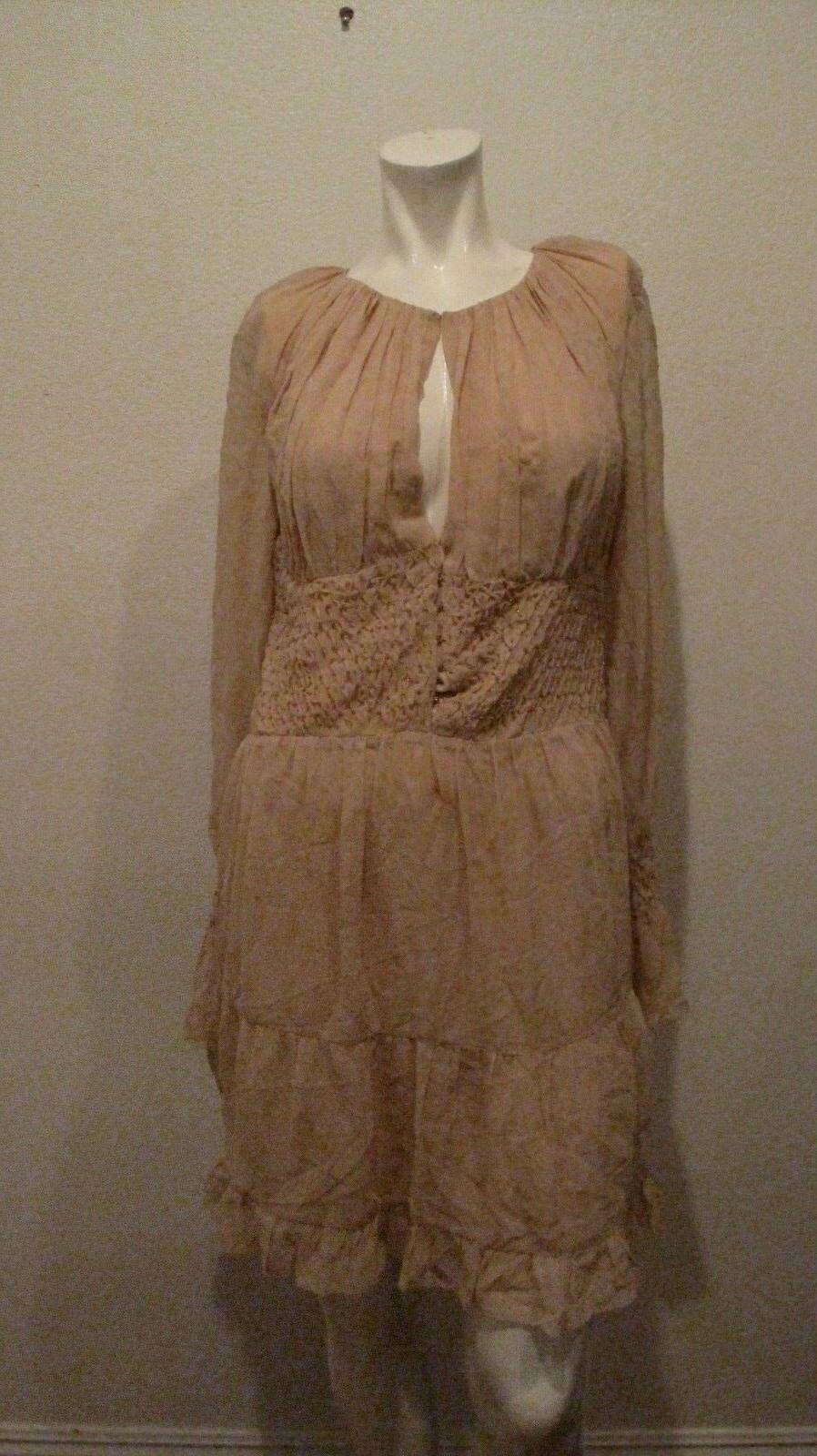 Intermix New York Rosa Seide Kleid Größe M